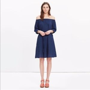 Madewell Off-the-Shoulder Chambray Dress